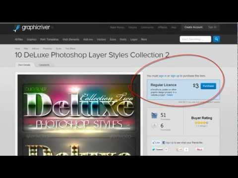 GraphicRiver - 10 DeLuxe Photoshop Layer Styles - ASL File For Free