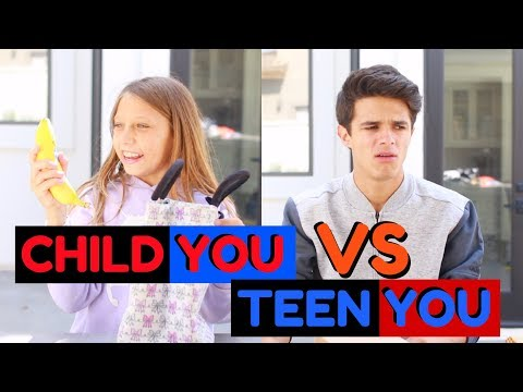 CHILD YOU VS TEEN YOU: BACK TO SCHOOL | Brent Rivera