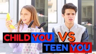 CHILD YOU VS TEEN YOU: BACK TO SCHOOL | Brent Rivera you 検索動画 17