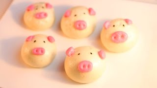 Steamed Piggy Buns / Mantou /小猪猪馒头