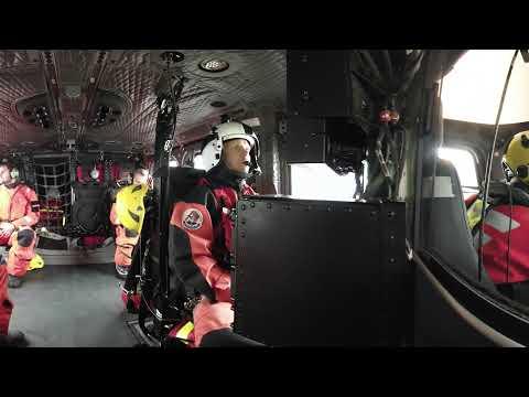 Sjöfartsverket i 360 VR – sjöräddningsövning med helikopterbesättning