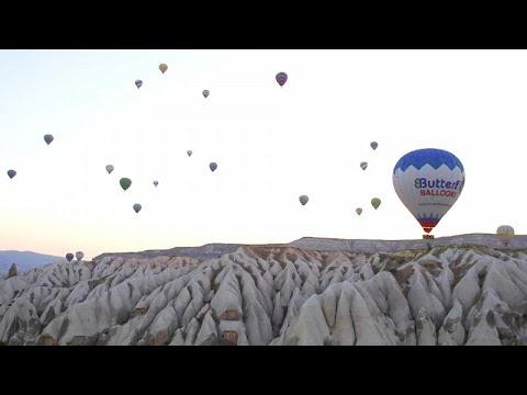 O fenómeno dos balões de ar quente na Capadócia