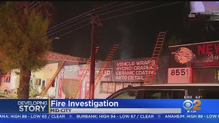 Fire Breaks Out In Mid-City Auto Shop