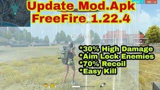 UPDATE MOD.APK FREEFIRE 1.22.4 HIGH DAMAGE, AUTO AIM LOCK ENEMIES