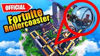 Riding The FIRST Fortnite ROLLER COASTER!!!