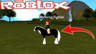 ROBLOX-I AM A HORSE AND RODE IN MIN AT THE HORSE WORLD-FINALLY (NEW GAME)