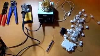 AC için akülü ışıkları dönüştürmek için Nasıl DİY.
