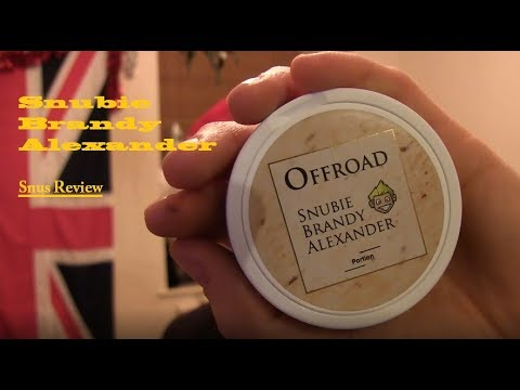 Snubie Brandy Alexander Snus review and