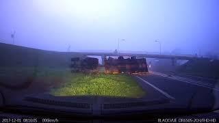 Tracteur vs Viaduc trop bas Pays Bas