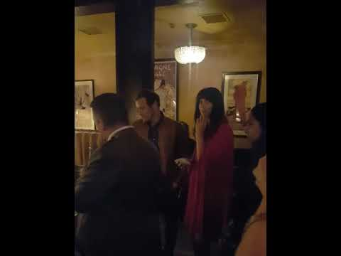 Caitriona And Sam Leaving NYC VOYAGE NIGHT (with Sound)