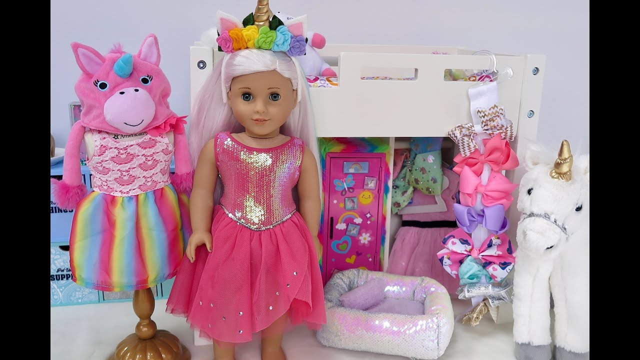 american girl doll bedroom with unicorns rainbows youtube 14010 | maxresdefault
