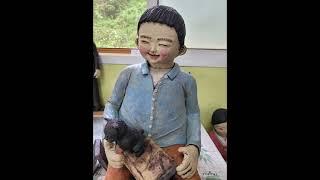 테라코타 권수미 토우 흙인형 도자인형 은비여랑 행복을부…
