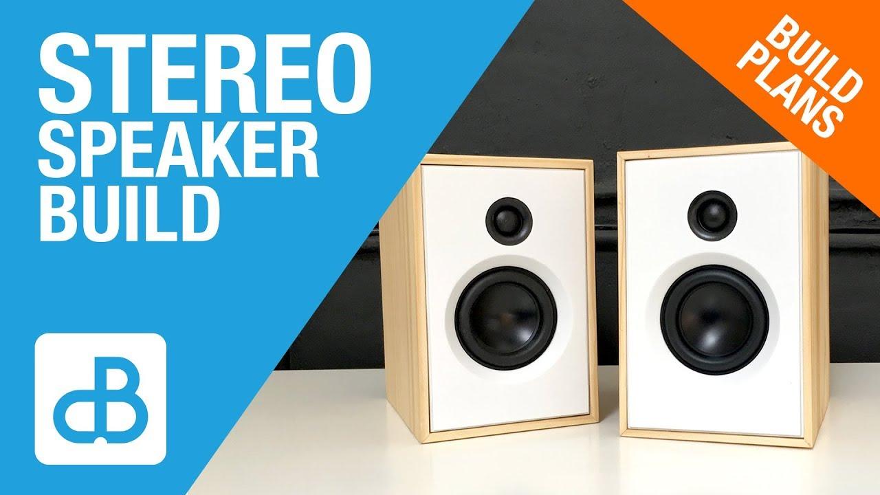 Small 2 Way Stereo Speaker Build By Soundblab Youtube Box Design