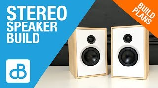 Small 2-Way Stereo SPEAKER BUILD - by SoundBlab