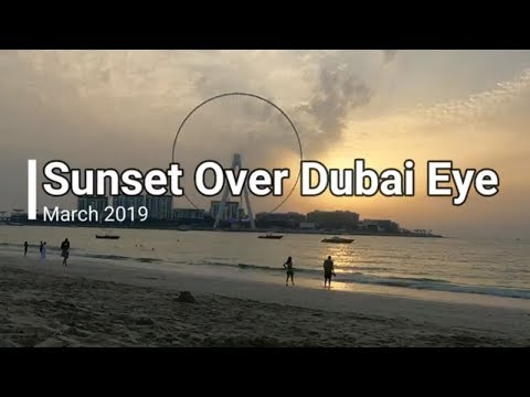 World's Best Sunset Dubai 2019 – Time Lapse – The Beach JBR