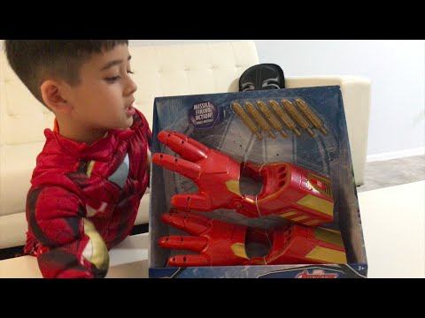 DISNEY STORE IRON MAN Repulsor Gloves ☻ Official Unboxing Toy Review☻ Princeton Jou☻ Brand New 2018