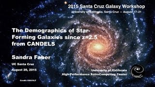 The Demographics of Star-Forming Galaxies since z=2.5 from CANDELS - Sandra Faber