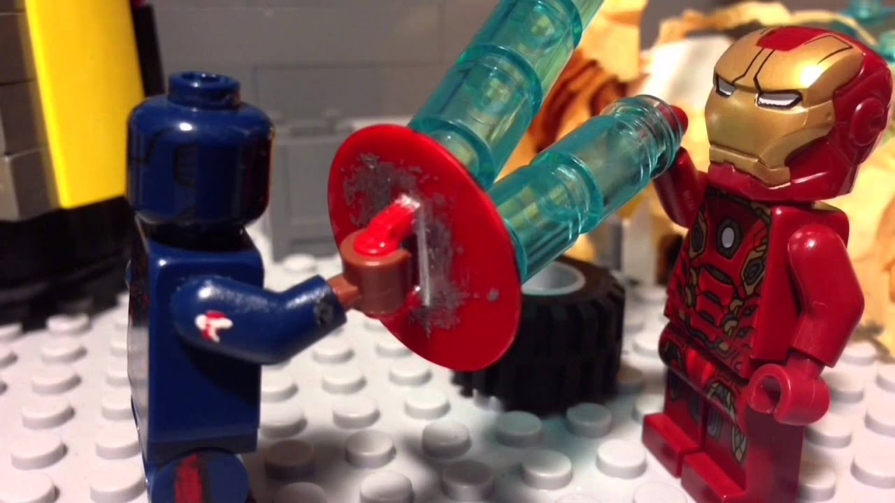 Lego Captain America: Civil war stop motion animation re-uploaded