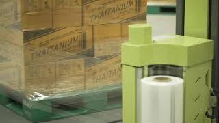 ฟิล์มยืดพันพาเลท Thaitanium Machine Roll - ตัวอย่างประสิทธิภาพฟิล์มพันด้วยเครื่อง Pre-Stretch Ver.2