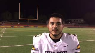 Wilcox's Gabe Herrera talks about win over Milpitas