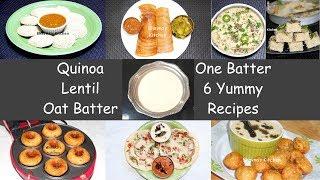 Quinoa Lentil Oat Dosa, Uttapam, Idli, Dhokla, Appe, Vada Video Recipe | Bhavna