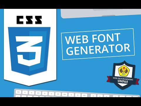CSS3 : Web Font Generator