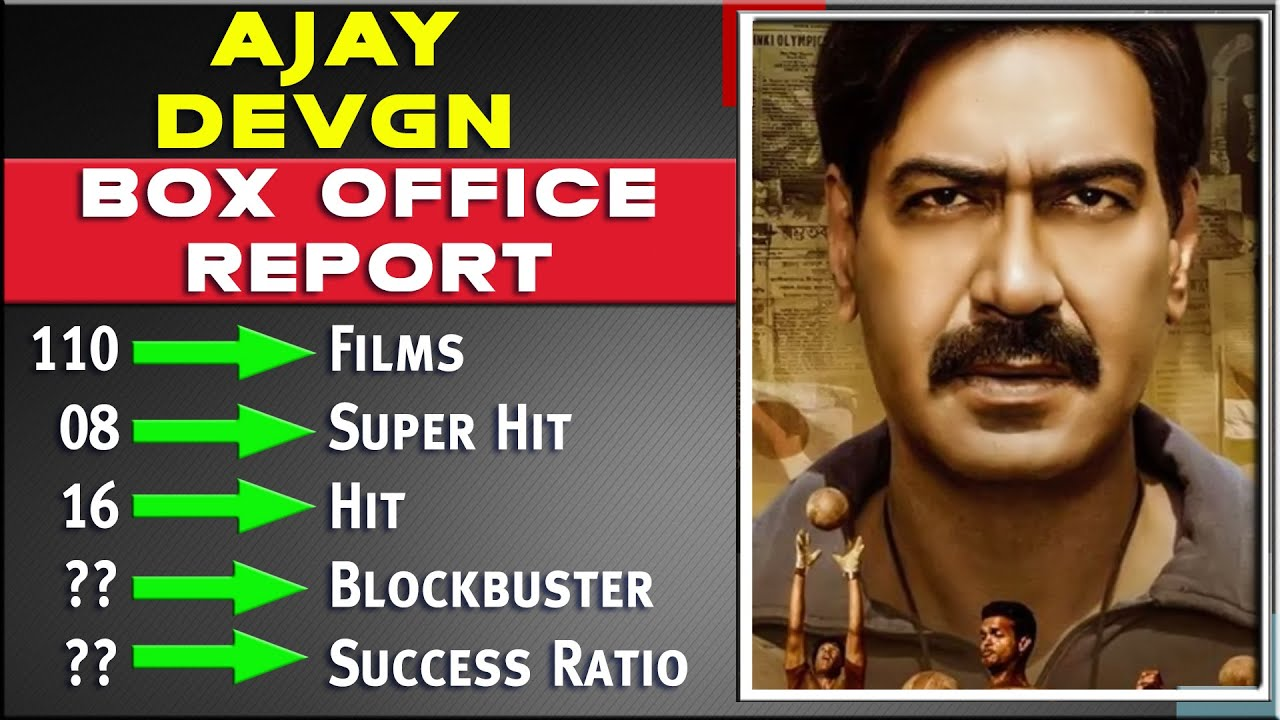 Ajay Devgn All Movies List, Hit and Flop Box Office Collection Analysis, Success Ratio, & Upcoming.