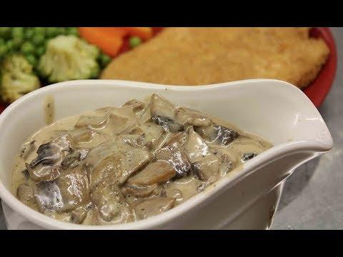Грибной соус. Соус с грибами к мясу/макаронам/картофелю. Очень вкусный нежный сливочный соус!