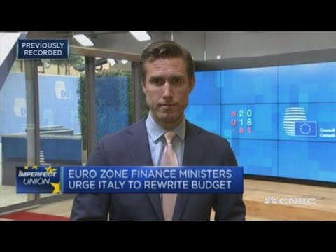 Italy's finance chief: Disagreements with EU don't mean dialogue won't continue   Squawk Box Europe