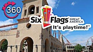 360º Walk through of Six Flags Great America - Gurnee, IL