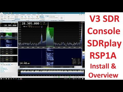 SDR Console V3 Install Setup And Overview On SDRplay RSP1A