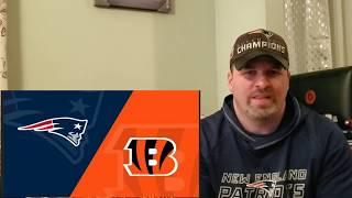 Pregame NFL NE Patriots vs Cincinnati Bengals December 15th 2019