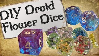 How to Make Your Own Dice Set | Druid Flower Dice