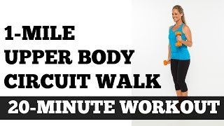 Walk at Home, Indoor Walking, Low Impact, Strength Training: 1 Mile Upper Body Circuit