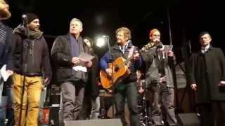 """""""Weida mitanand"""" - Bellevue di Monaco Chor bei Nobagida-Demo in München"""