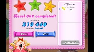 Candy Crush Saga Level 682   ★★★   NO BOOSTER