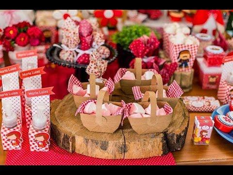 Ideias Decoração e Lembrancinhas Festa Aniversário Chapeuzinho Vermelho d81b710b511