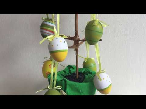 DIY - fantastic handmade Easter tree decoration (easy crafts with kids)
