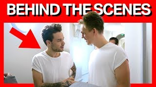 FILMING MY VIDEO WITH LIAM PAYNE + BLOOPERS