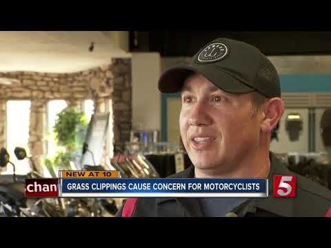 Motorcycle riders warn about dangers of grass clippings on road