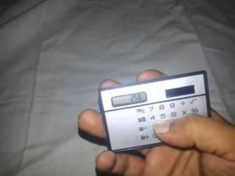 Mini Slim Credit Card Solar Power Pocket Calculator from www.chinabuye.com
