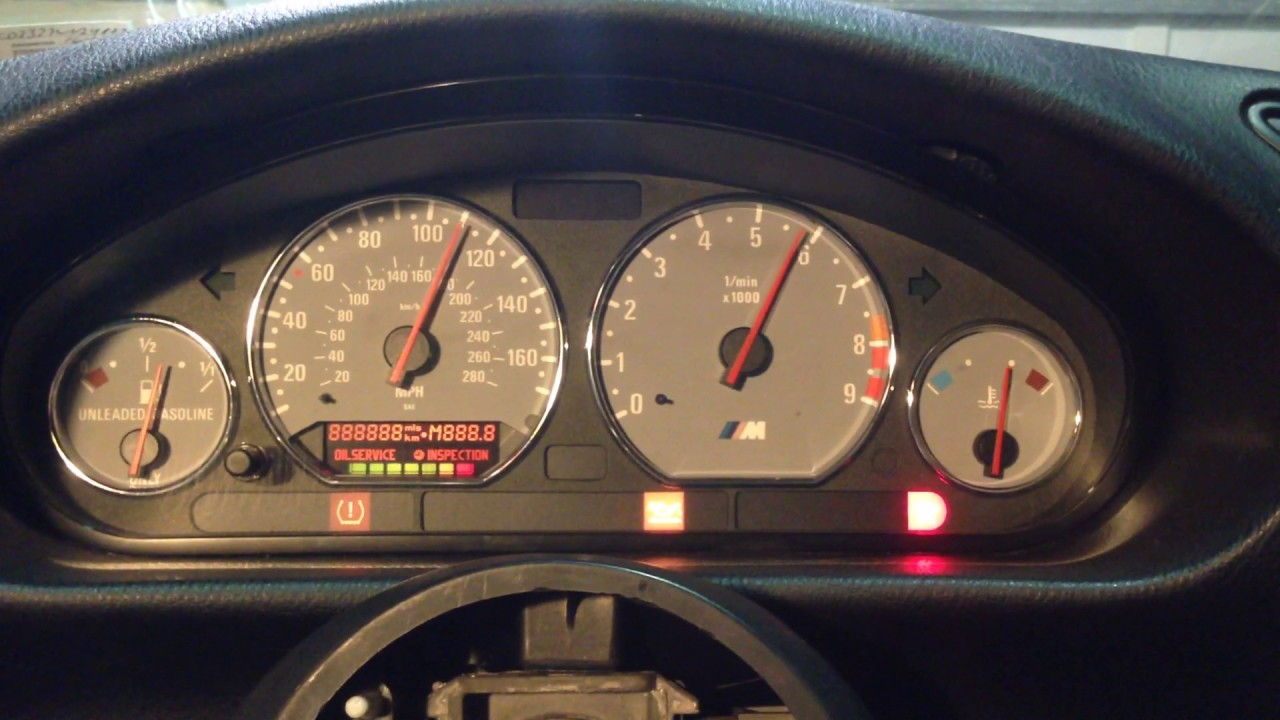 S54 E36 With S54 Z3m Gauge Cluster Test 2 Youtube