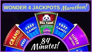 **84 MINUTE** Wonder 4 Jackpots MARATHON!  ✦ LIVE PLAY ✦ LONG Videos EVERY Monday in December ✦