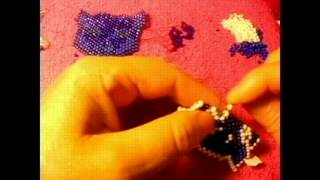 Como hacer una cara de tigre con peyote stitch bien bomita les gustara#4