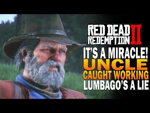 IT'S A MIRACLE! Uncle Caught Working, Lumbago a Lie! Red Dead Redemption 2 thumbnail