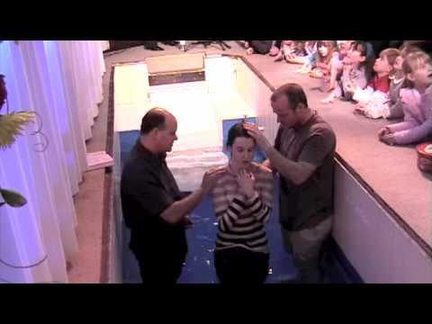 Lorna's Baptism at Weymouth Baptist Church