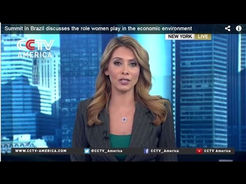CCTV Spotlight on the 2015 Global Summit of Women in Sao Paulo, Brazil