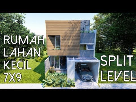 Casa 7x9 lahan Kecil konsep Split Level + Musholla [kode 168]