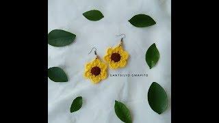 Crochet Sunflower Earrings