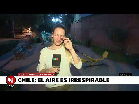 Abigail Hermo recibe ATAQUE en las PROTESTAS de CHILE - Telefe Noticias